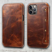 Load image into Gallery viewer, genuine leather phone case