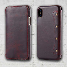 Load image into Gallery viewer, iPhone XS MAX leather case
