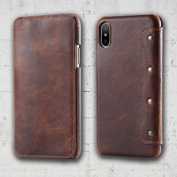 iPhone X flip case