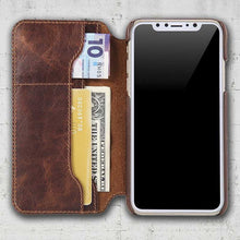 leather folio iPhoneX case