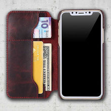 leather iphone x folio case
