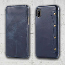 Load image into Gallery viewer, Real skin folio wallet iPhone XS and XS-MAX cell case