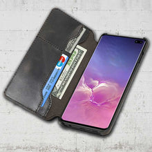 Load image into Gallery viewer, Galaxy S10 Leather flip cover