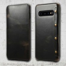 Load image into Gallery viewer, Leather Wallet case for Galaxy S10 plus