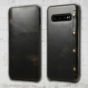 Leather Wallet case for Galaxy S10 plus