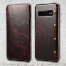 Load image into Gallery viewer, Galaxy S10 plus Genuine Leather case
