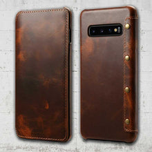 Load image into Gallery viewer, Leather Galaxy S10 case