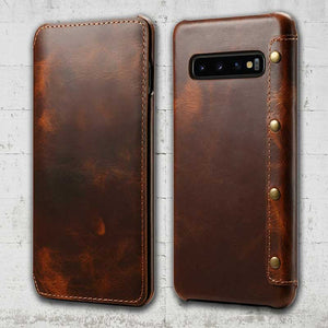 Leather Galaxy S10 case