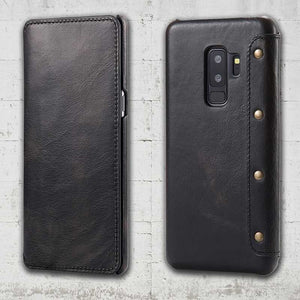 Leather Wallet case for Galaxy S9 plus