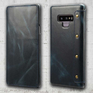 Samsung Note 9 wallet made from leather