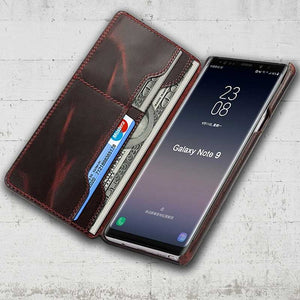 Note 9 leather wallet holder