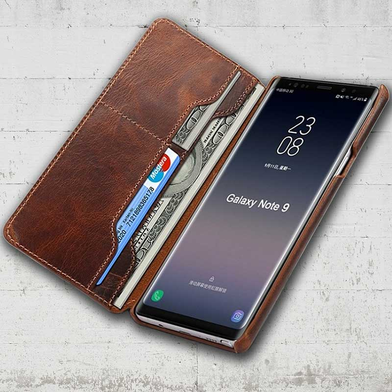 sports shoes 09a0f 8dc7a Folio Leather case for Galaxy Note 9