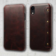 Load image into Gallery viewer, iPhone XR cowhide cell phone holder