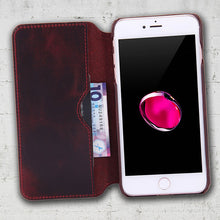 Load image into Gallery viewer, leather wallet case for iphone SE 2020