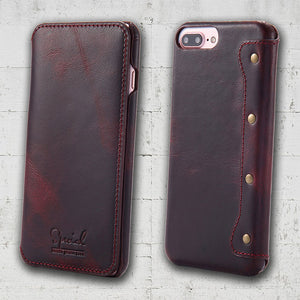 genuine leather iphone SE case
