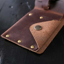 Leather Studded Bifold Coin Wallet