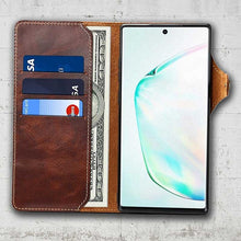 Load image into Gallery viewer, samsung galaxy note20 ultra leather wallet case