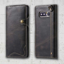 Black leather Galaxy Note 8 cover
