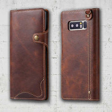 Load image into Gallery viewer, Leather wallet for Samsung Galaxy Note 8