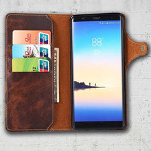 Load image into Gallery viewer, Leather wallet case Galaxy Note8