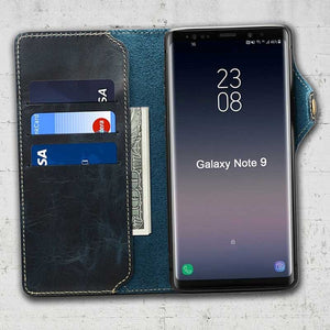 note 9 genuine leather case
