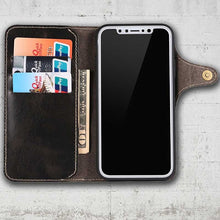 Load image into Gallery viewer, Real Leather Wallet case for iPhone XS Max