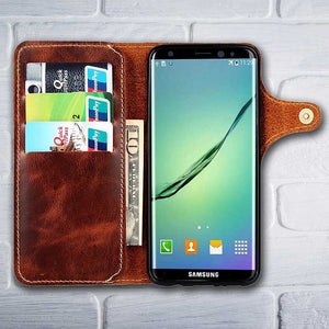 Galaxy S8 Leather wallet phone case