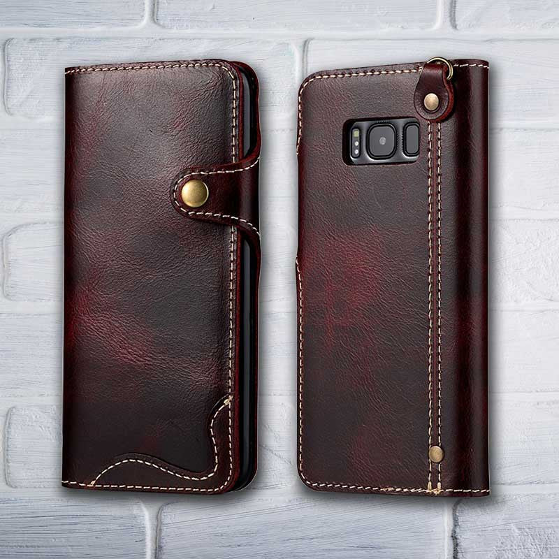 buy popular a5895 2334a Leather Wallet case for Galaxy S8