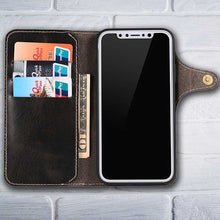 Load image into Gallery viewer, leather folio case for iPhone 10 ten