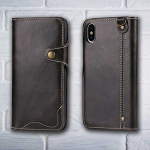 Black Leather wallet phone case