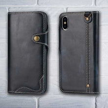 Load image into Gallery viewer, Leather wallet for iPhone X