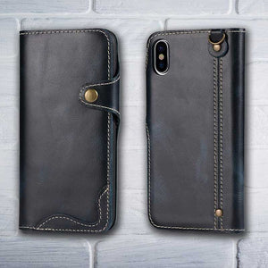 Leather wallet for iPhone X