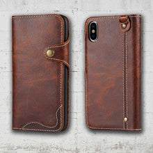 Load image into Gallery viewer, Leather iPhone XS Max case