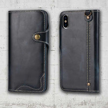 Load image into Gallery viewer, full leather iphone XS and XR case