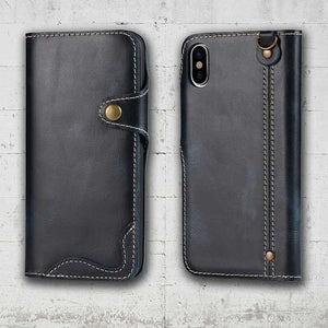 full leather iphone XS and XR case