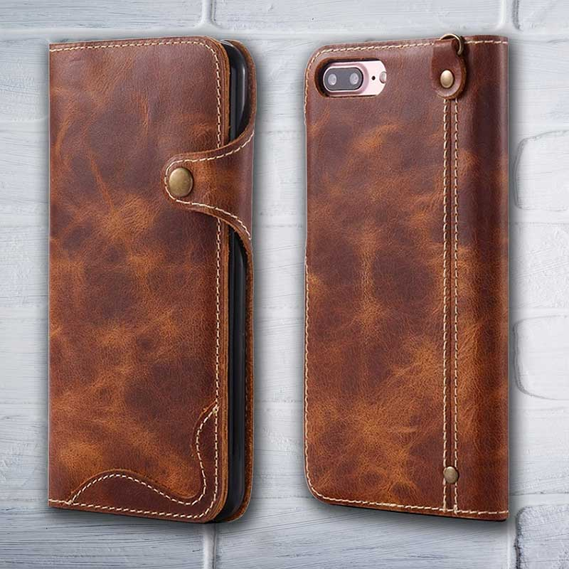 finest selection bffa3 6b9eb Leather Wallet case - iPhone 8 / 7