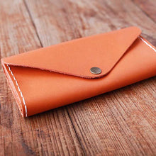 Long Leather Coin Wallet
