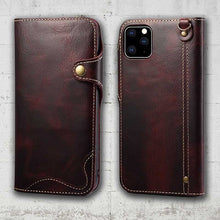 Load image into Gallery viewer, iphone leather case patina
