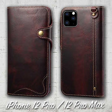 Load image into Gallery viewer, Leather Wallet case for iPhone 12 Pro