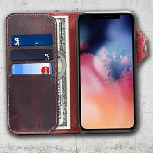 Load image into Gallery viewer, iphone 11 leather case taupe patina
