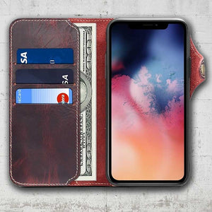 Leather Wallet case for iPhone 12 Pro
