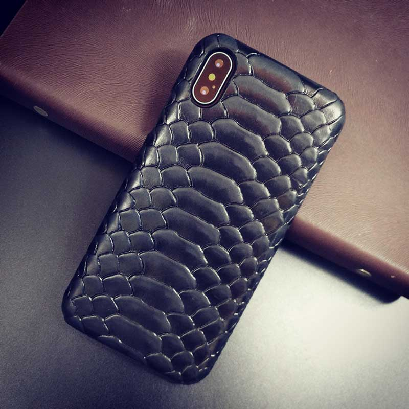 competitive price 4701a a91d8 Python case for iPhone X, Cowhide Leather
