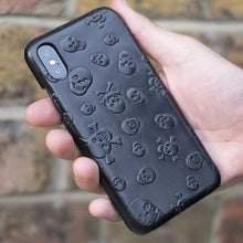 Leather Skull case for iPhone X