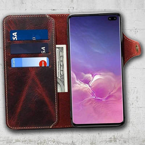 Cordovan Leather Case for Galaxy S10 and S10plus