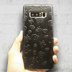 This is an image of Samsung Galaxy Note8 Genuine Leather Skull Case