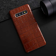 Handmade Galaxy S10 Crocodile case