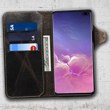 Load image into Gallery viewer, samsung leather phone case for S10