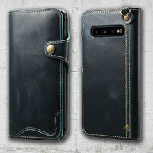Load image into Gallery viewer, samsung S10 leather wallet magnetic cover