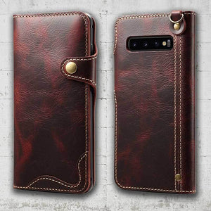 Samsung Galaxy S10 plus leather wallet case magnetic