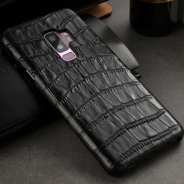Crocodile case for Galaxy S9, Cowhide Leather